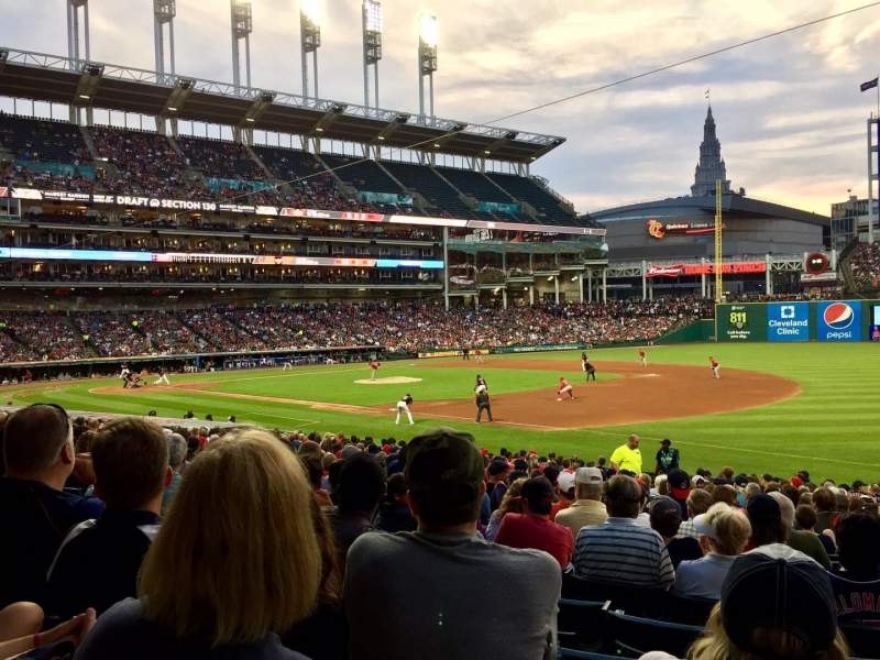 Seating view for Progressive Field Section 134 Row Y Seat 1
