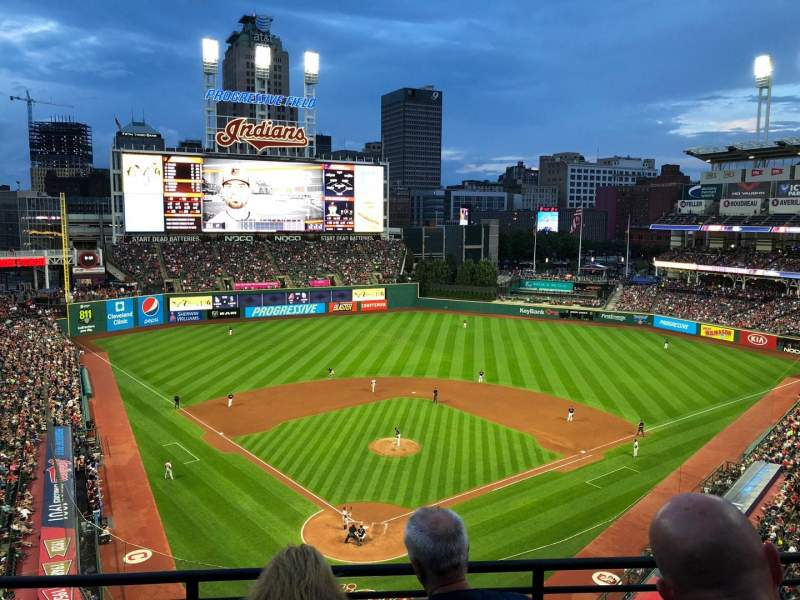 Seating view for Progressive Field Section 453 Row C Seat 12