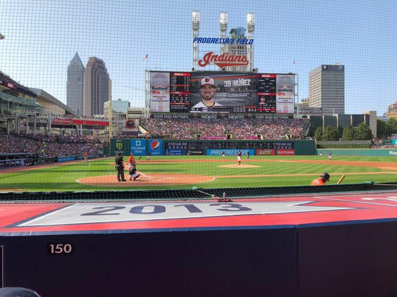 Seating view for Progressive Field Section 150 Row G Seat 6-7
