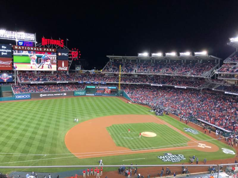 Seating view for Nationals Park Section 307 Row C Seat 17