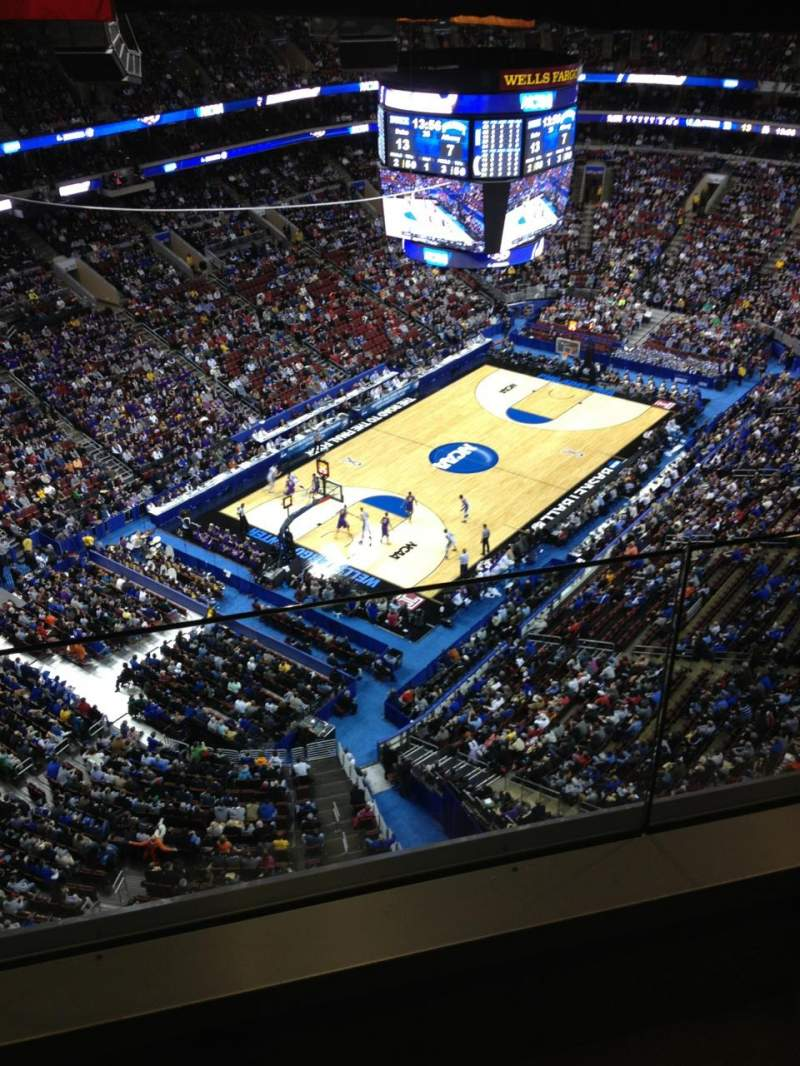 Seating view for Wells Fargo Center Section Balcony Suite 19