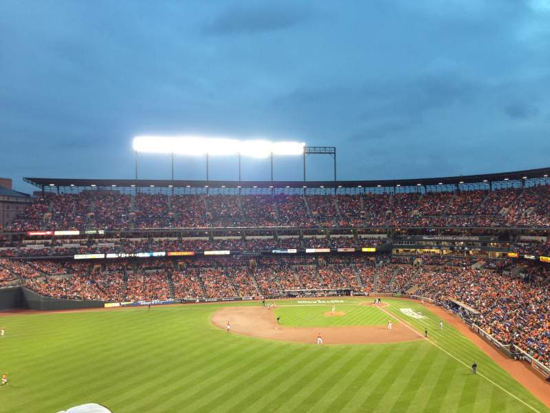 Seating view for Oriole Park at Camden Yards Section 384 Row 4 Seat 19