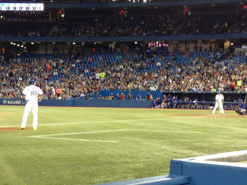 Seating view for Rogers Centre Section 128R Row 2 Seat 10