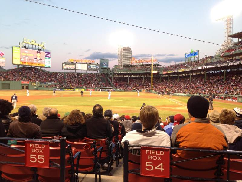 Seating view for Fenway Park Section Loge Box 141 Row AA Seat 3
