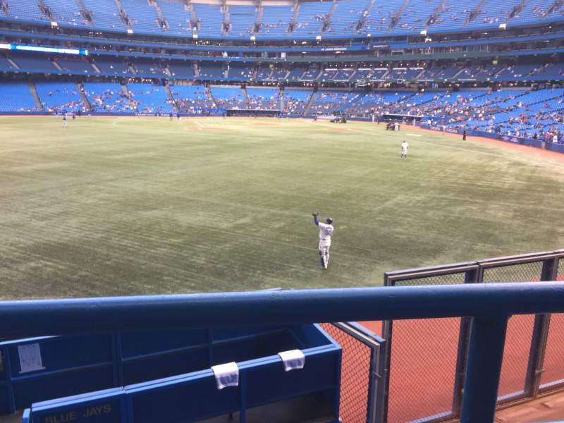 Seating view for Rogers Centre Section 138R Row 1 Seat 2