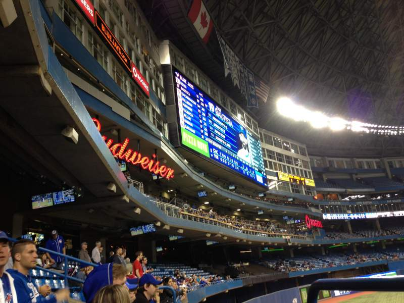 Seating view for Rogers Centre Section 138 Row 1 Seat 2