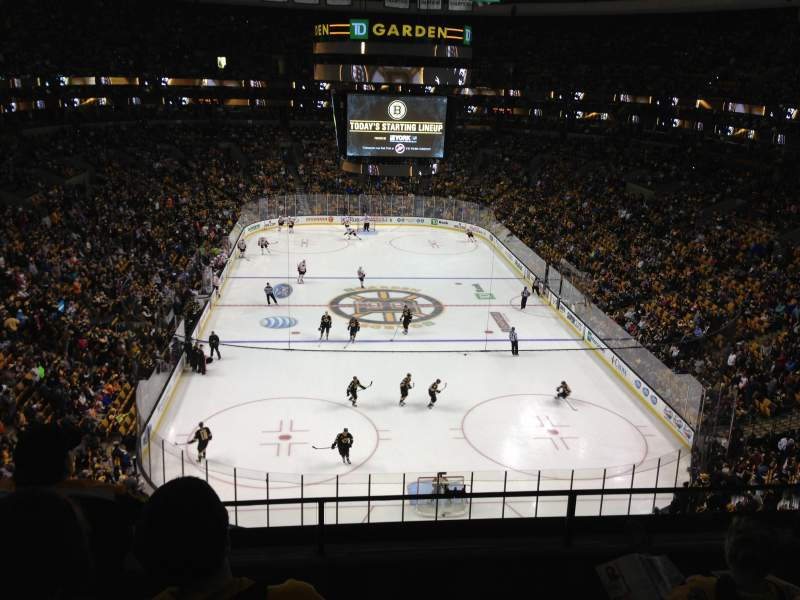 Seating view for TD Garden Section Bal 309 Row 4