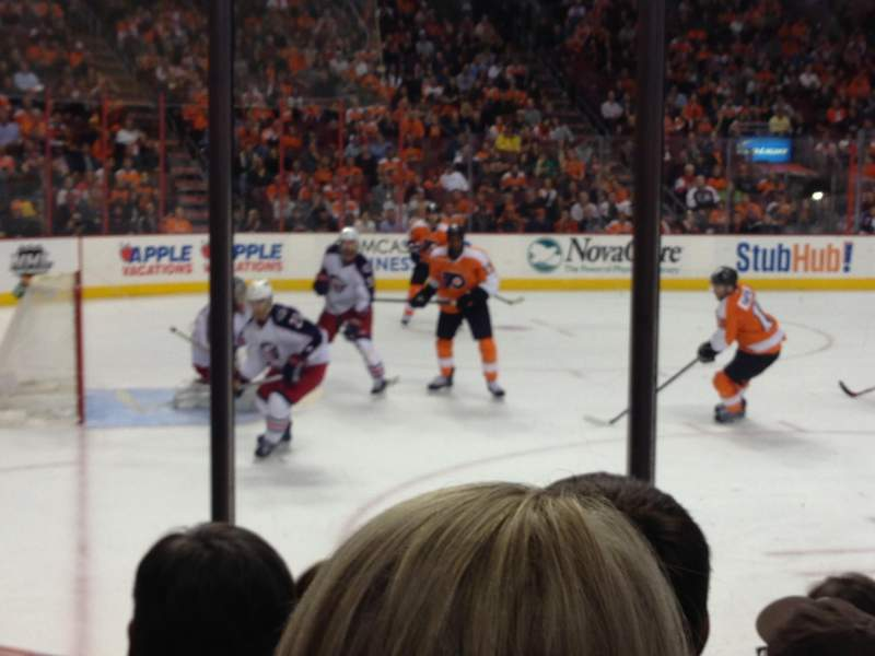 Seating view for Wells Fargo Center Section 110 Row 5 Seat 6