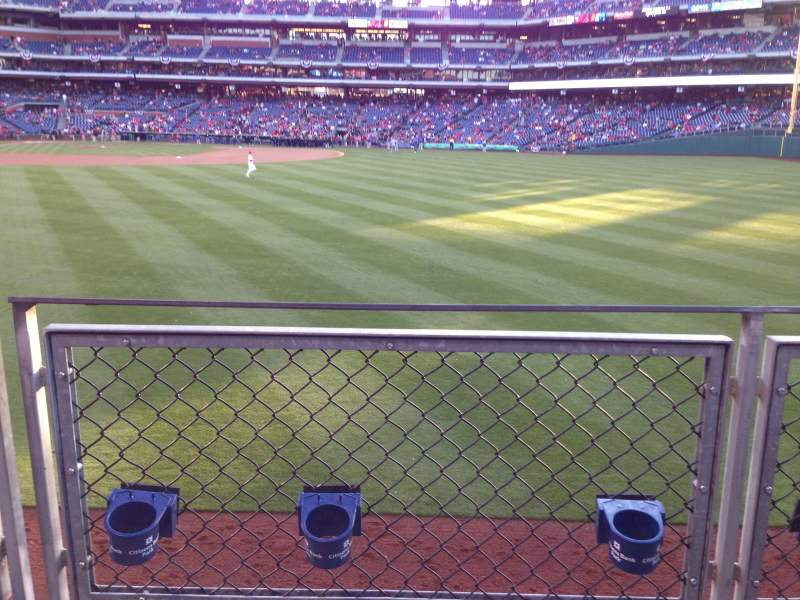 Citizens Bank Park, section: 102, row: 2, seat: 14