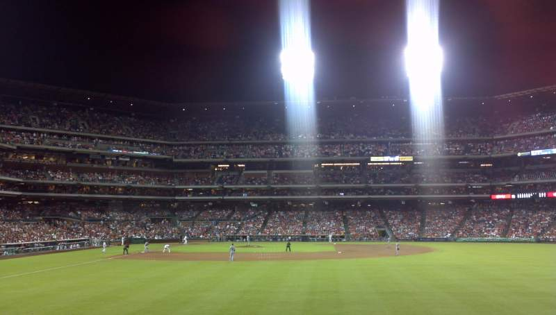 Seating view for Citizens Bank Park Section 104 Row 2 Seat 20
