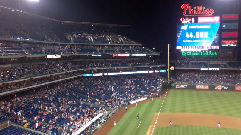 Seating view for Citizens Bank Park Section 316 Row 2 Seat 18