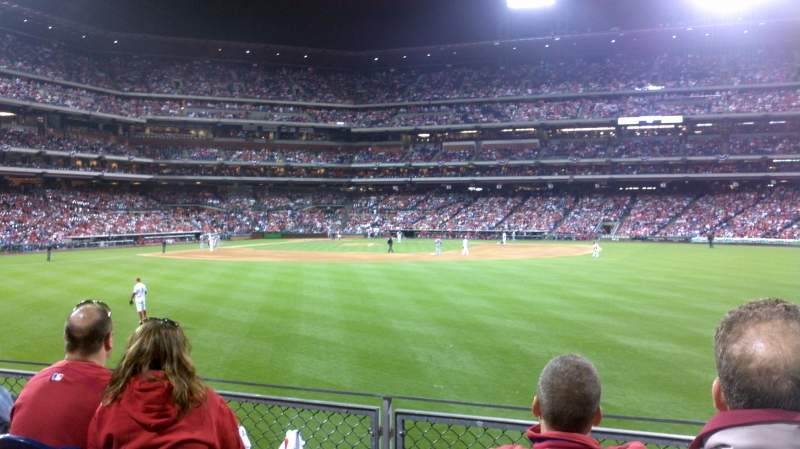 Seating view for Citizens Bank Park Section 102 Row 4 Seat 7