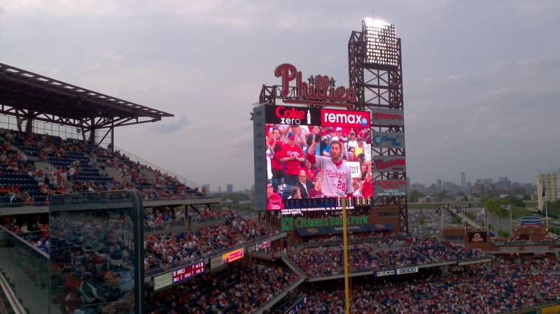 Seating view for Citizens Bank Park Section 426 Row 1 Seat 22