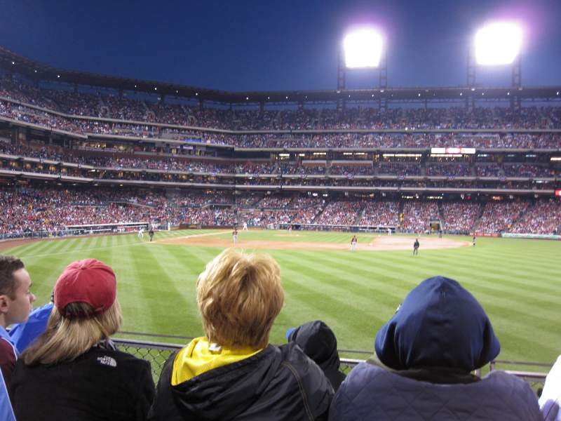 Seating view for Citizens Bank Park Section 104 Row 4 Seat 6