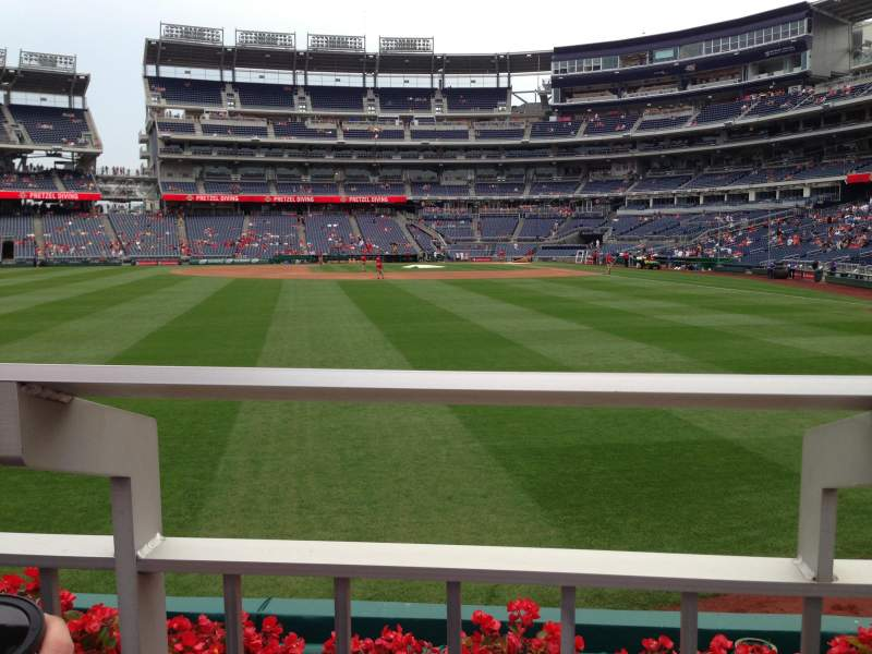 Seating view for Nationals Park Section 103 Row A Seat 5