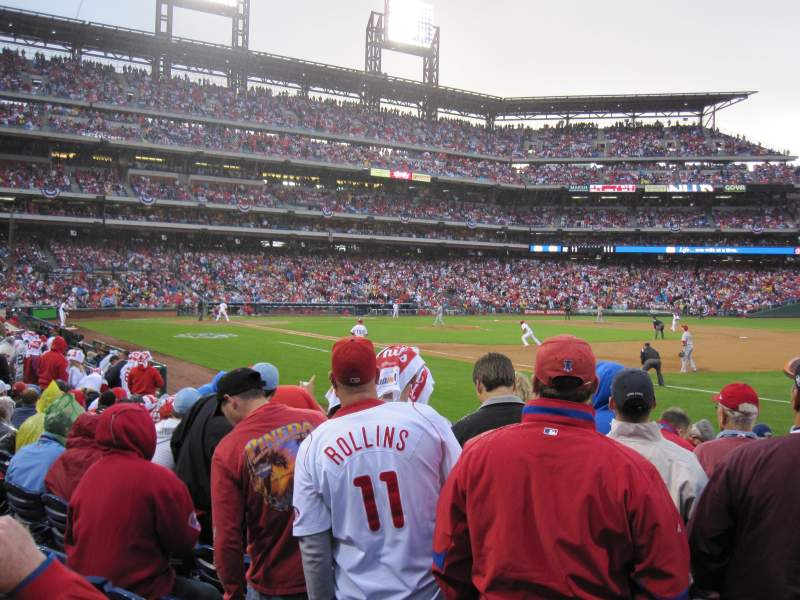 Seating view for Citizens Bank Park Section 112 Row 12 Seat 8