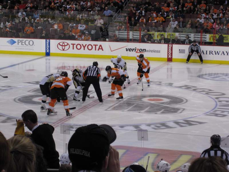 Seating view for Wells Fargo Center Section 102 Row 13 Seat 5