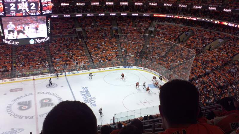 Seating view for Wells Fargo Center Section 201 Row 11 Seat 11