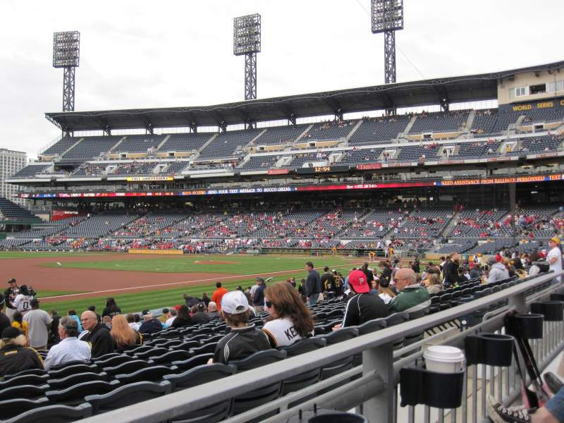 Seating view for PNC Park Section 127 Row A Seat 15
