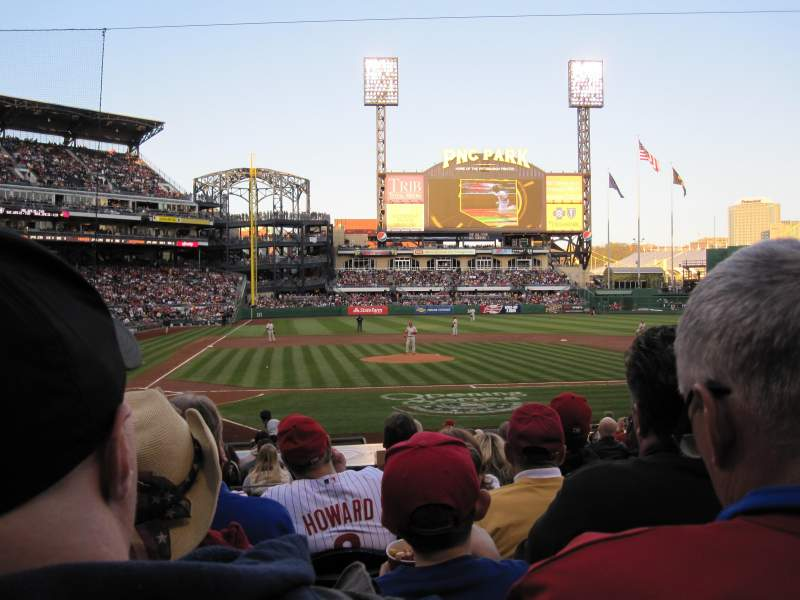 Seating view for PNC Park Section 113 Row F Seat 7