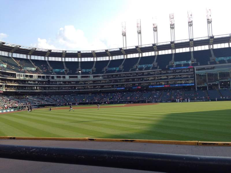 Seating view for Progressive Field Section 109 Row A Seat 4