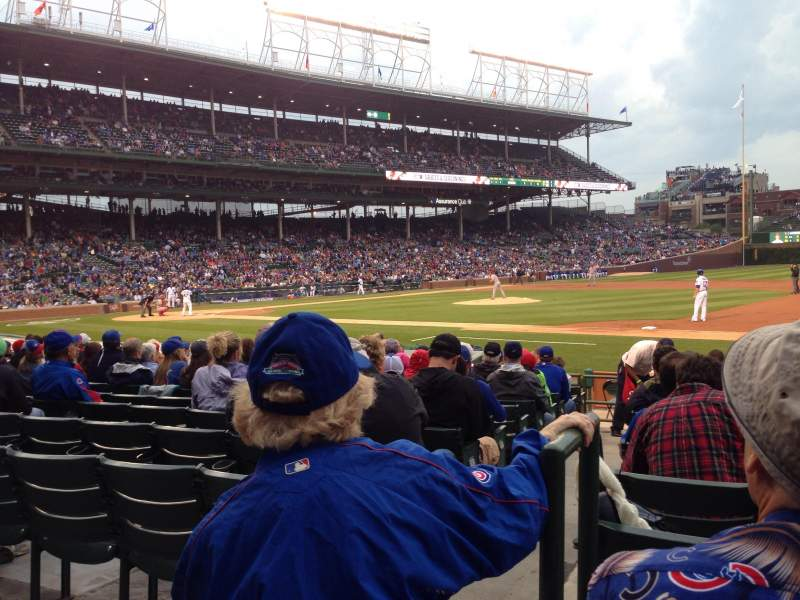 Seating view for Wrigley Field Section 131 Row 1 Seat 5