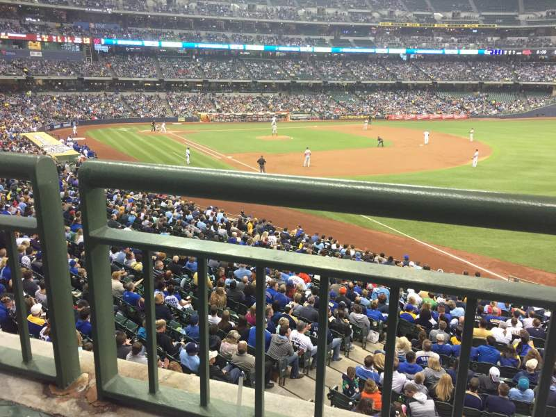 Seating view for Miller Park Section 208 Row 1 Seat 11