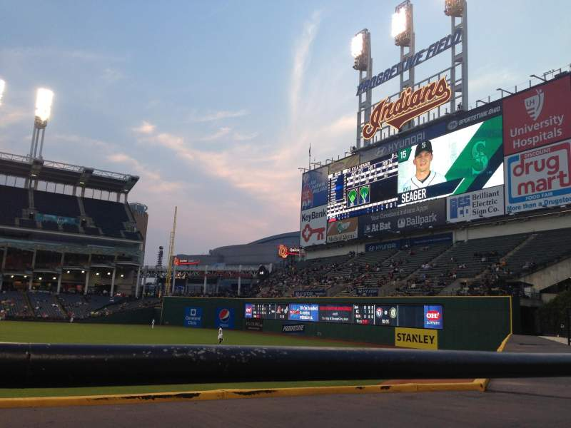 Seating view for Progressive Field Section 109 Row A Seat 3