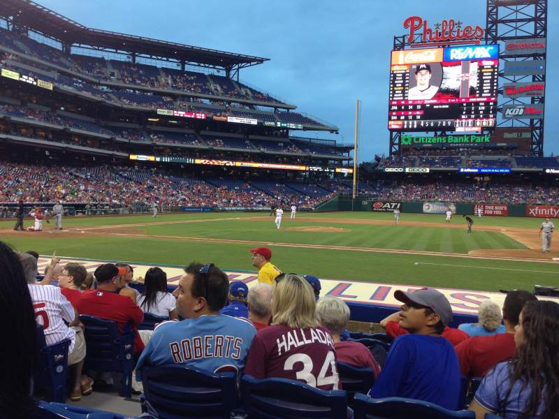 Seating view for Citizens Bank Park Section 116 Row 8 Seat 16