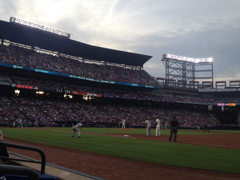 Seating view for Turner Field Section 117r Row 2 Seat 1