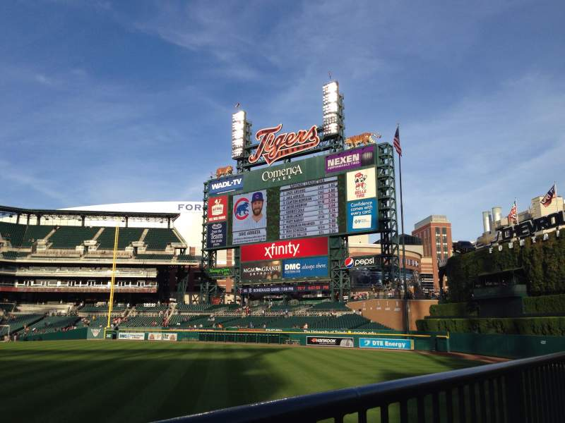 Seating view for Comerica Park Section 104 Row A Seat 12