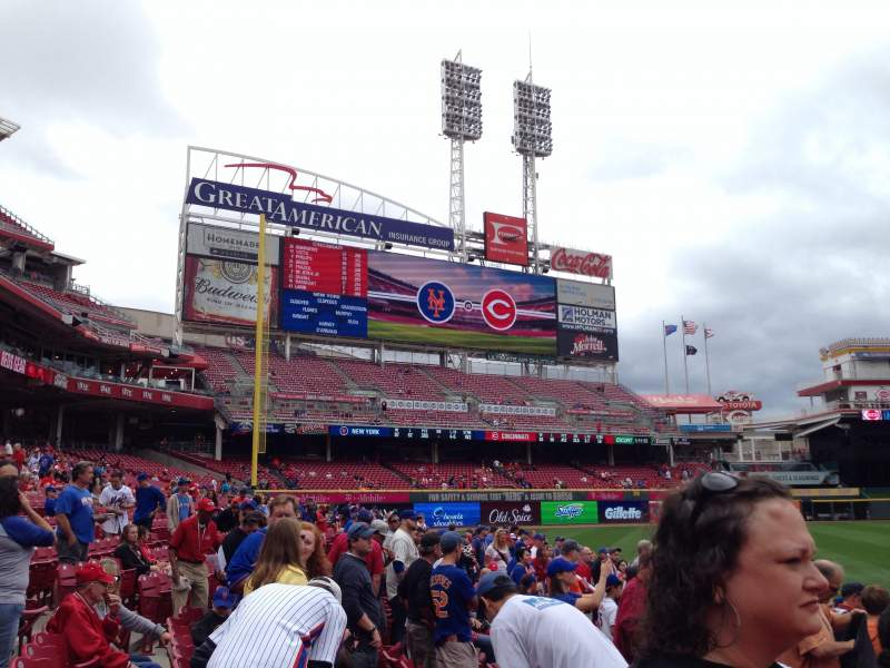Seating view for Great American Ball Park Section 115 Row H Seat 12