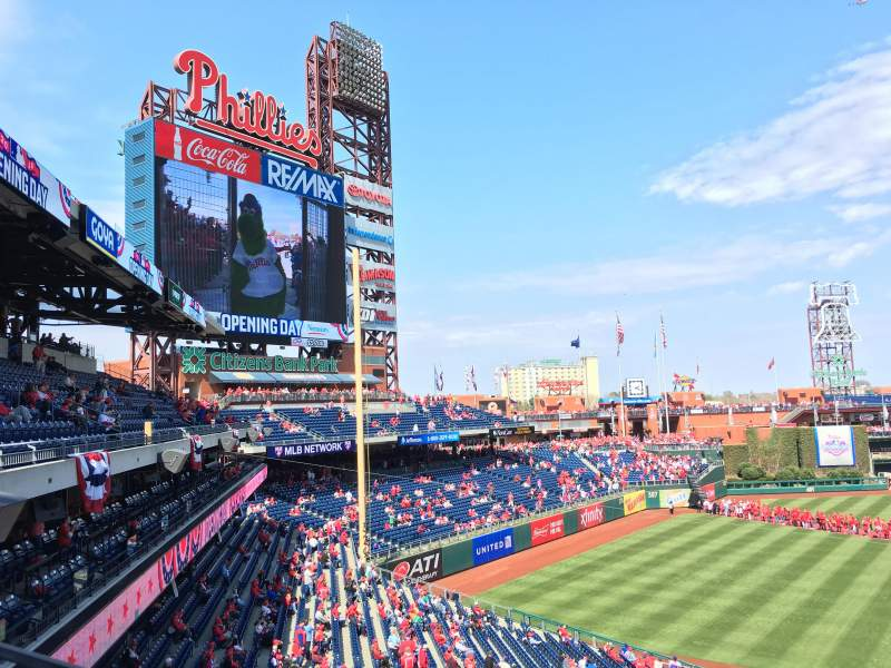 Seating view for Citizens Bank Park Section 232 Row 1 Seat 6