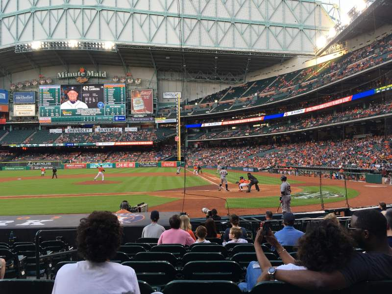 Seating view for Minute Maid Park Section 116 Row 13 Seat 3