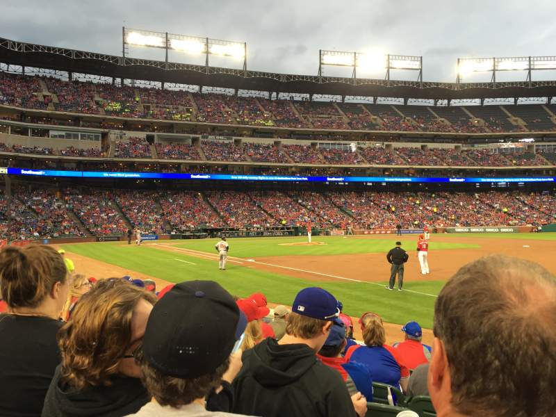 Seating view for Globe Life Park in Arlington Section 37 Row 7 Seat 12