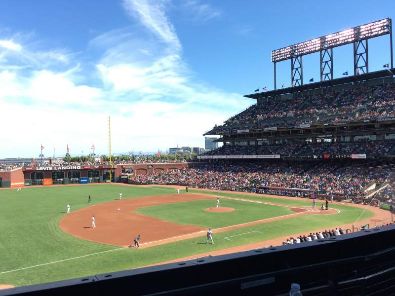 Seating view for AT&T Park Section 226 Row B Seat 7
