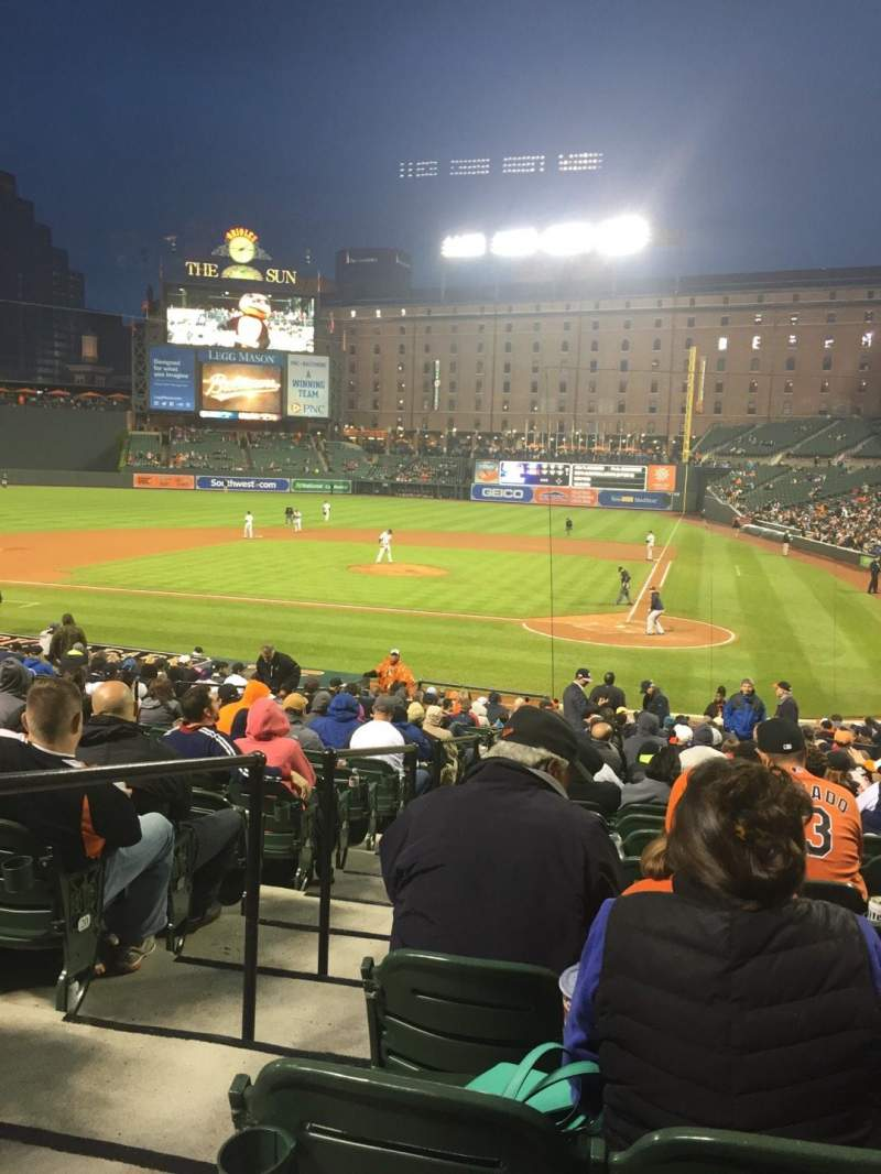 Seating view for Oriole Park at Camden Yards Section 44 Row 27 Seat 11