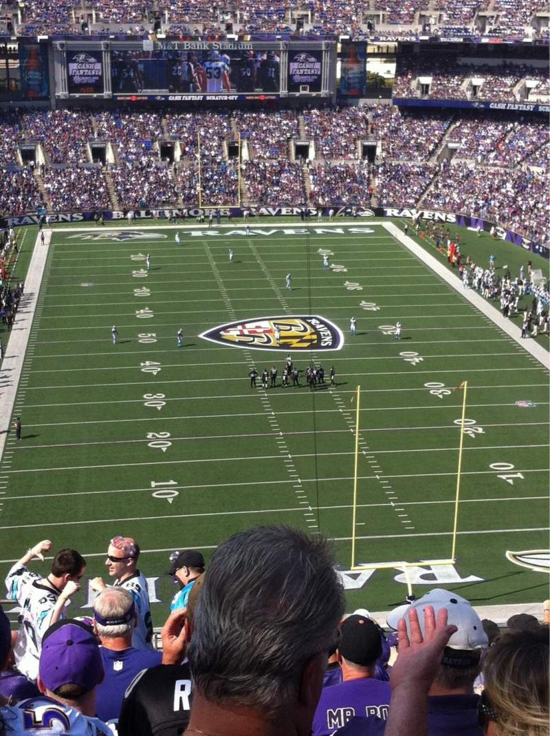Seating view for M&T Bank Stadium Section 514 Row 15 Seat 16