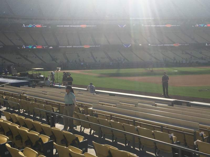 Seating view for Dodger Stadium Section 36FD Row F Seat 1