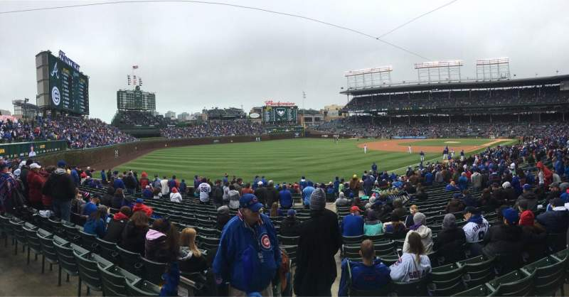 Seating view for Wrigley Field Section 204 Row 1 Seat 17