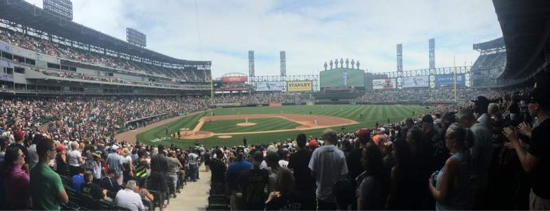 Seating view for Guaranteed Rate Field Section 127 Row 30 Seat 9-10