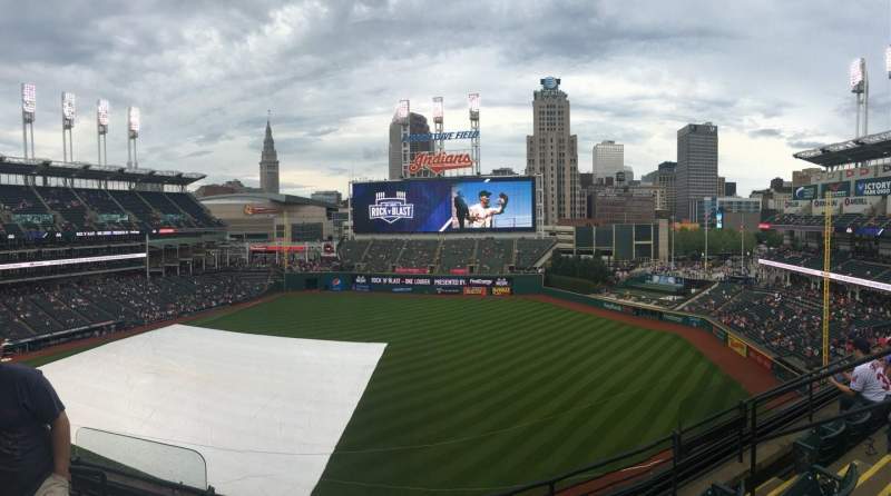 Seating view for Progressive Field Section 434 Row D Seat 5-8