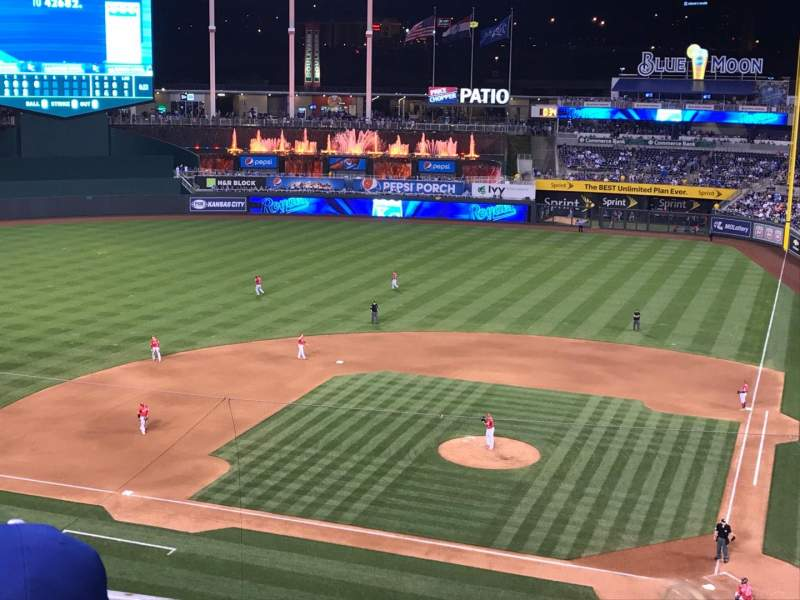 Seating view for Kauffman Stadium Section 415 Row D Seat 2