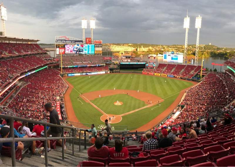 Seating view for Great American Ball Park Section 525 Row L Seat 19