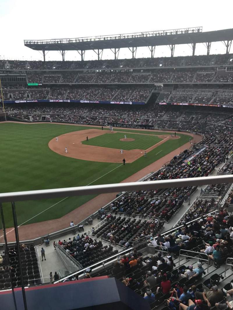 Seating view for SunTrust Park Section 342 Row 1 Seat 1