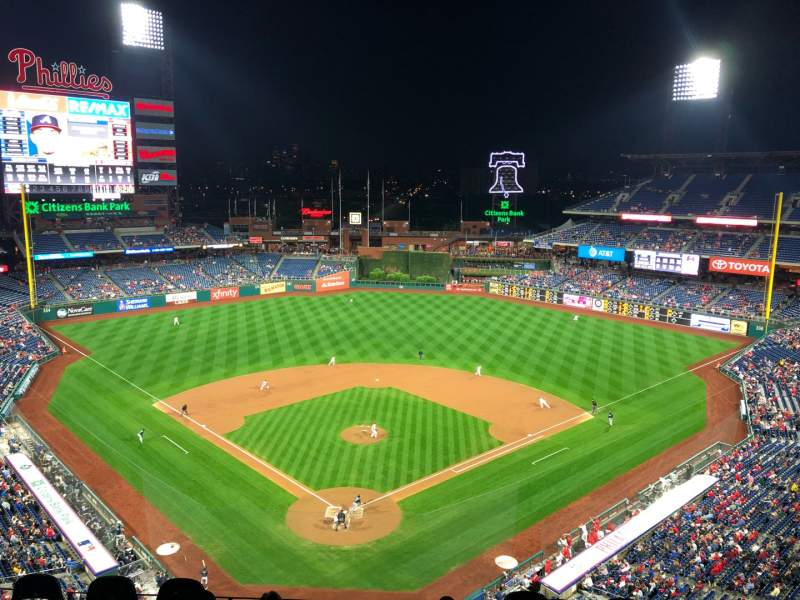 Seating view for Citizens Bank Park Section 420 Row 2 Seat 15