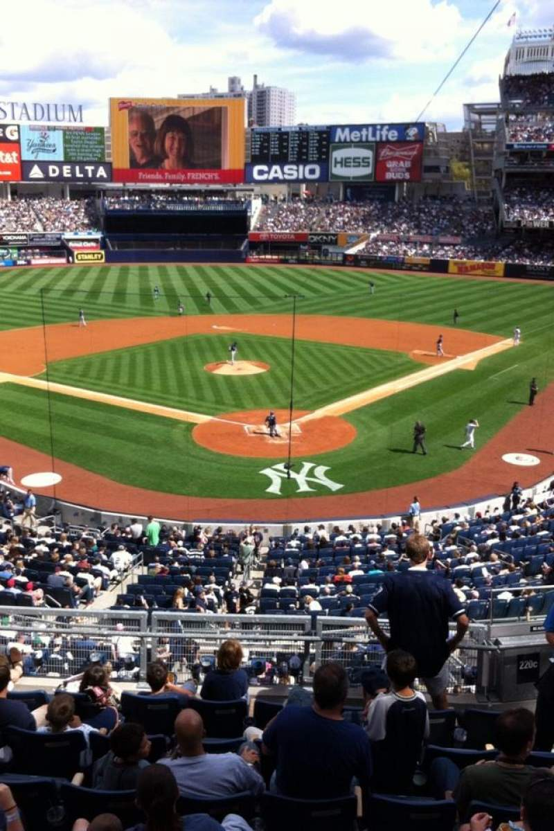 Seating view for Yankee Stadium Section 220a Row 1 Seat 1