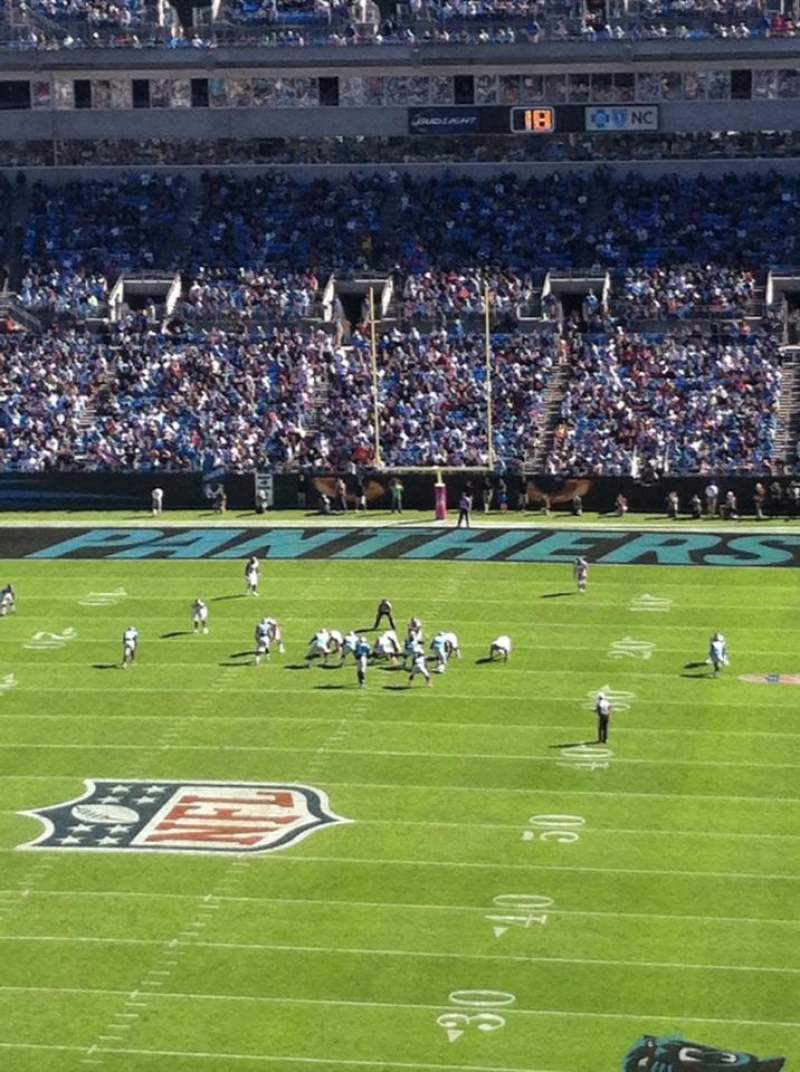 Seating view for Bank of America Stadium Section 553 Row J Seat 6