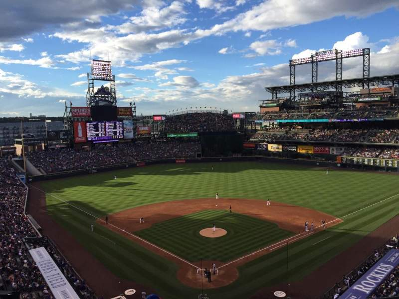 Seating view for Coors Field Section L330 Row 5 Seat 9