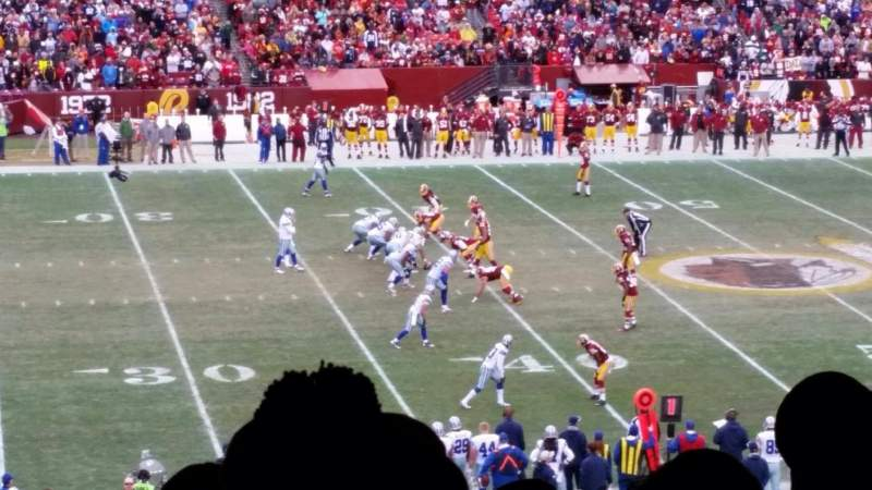 Seating view for Fedex Field Section 222 Row 20 Seat 19, 20